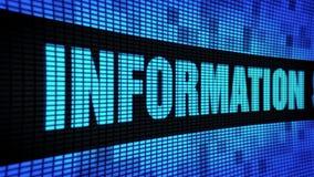 Informationssicherheits-Seitentext, der LED-Wand-Anzeigetafel-Zeichen-Brett in einer Liste verzeichnet stock footage