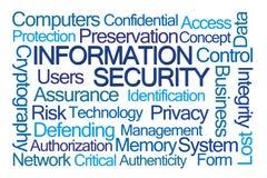 Informationssicherheits-Wort-Wolke Stockfotos
