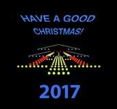 Informationssignage för jul Arkivfoton