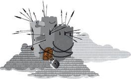 Informationsskydd om moln vektor illustrationer