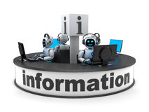 Informationsstellenabteilung und AI Lizenzfreie Stockbilder