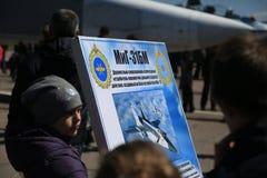 Informationstabell av den ryska kämpe-militärt jaktplan MiG-31BM Royaltyfria Bilder