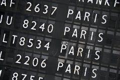 informationstabell om flyg Arkivfoto