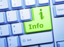 Informationstaste Lizenzfreies Stockfoto