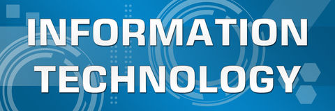 Informationstechnologie-Geschäfts-Thema-Fahne Lizenzfreies Stockbild