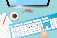 Informationstechnologie-Sicherheitskonzept Lizenzfreies Stockbild
