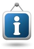 informationstecken stock illustrationer