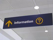 informationstecken Arkivfoto