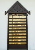informationstecken Arkivbild