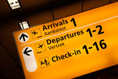 informationstecken om flygplats Royaltyfri Fotografi