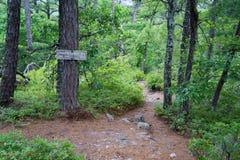 Informationstecken på den Appalachian slingan Arkivfoto