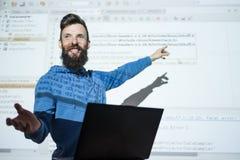 Informationsteknik om programmerarekursutbildning royaltyfria bilder