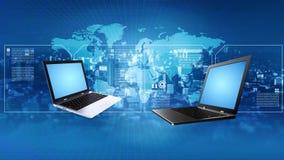 Informationsteknikbegrepp om internet royaltyfri illustrationer