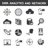 Informationsverwaltung, analytische Ikonen der Daten stock abbildung
