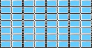 Informationsvorstand von den Bildschirmanzeigen vektor abbildung