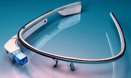 informatique portable avec un affichage tête-monté optique illustration stock