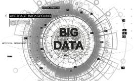 Informatique quantique Grand vecteur de fond de données illustration stock