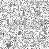 Informativ överbelastningsillustration stock illustrationer