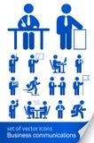 informativ set för affärssymbol Royaltyfri Bild