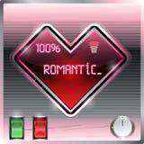Informativ skärm i en form av hjärta royaltyfri illustrationer