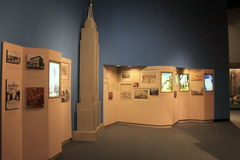 Informative exhibit covering history in New York`s architecture, The State Museum, Albany, New York, 2016. Informative exhibit, with many pieces covering the Royalty Free Stock Images