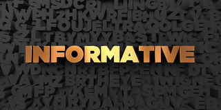 Informative - Gold text on black background - 3D rendered royalty free stock picture. This image can be used for an online website banner ad or a print Royalty Free Stock Image