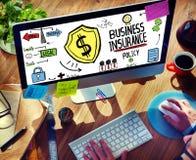 Informatyki ryzyka Biznesowego ubezpieczenia pojęcie Obrazy Stock
