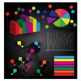 Informazione-grafici Immagine Stock