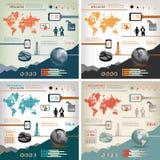 Informazione-grafici di affari globali illustrazione di stock