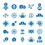 Informazioni che analizzano l'insieme dell'icona di tema di scambio e di raccolta, royalty illustrazione gratis