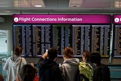 Informazioni dei collegamenti di volo Immagini Stock Libere da Diritti