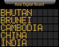 Informazioni del bordo di Digital del paese dell'Asia Immagine Stock