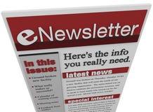 Informazioni del email dell'emissione del ENewsletter Fotografia Stock Libera da Diritti