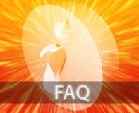 Informazioni del FAQ Fotografie Stock Libere da Diritti
