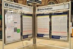Informazioni del treno Fotografie Stock