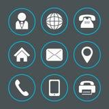 Informazioni delle icone di vettore Immagini Stock