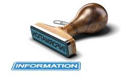 Informazioni di affari sopra fondo bianco Fotografie Stock