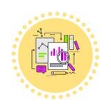 Informazioni di analisi dei dati di web royalty illustrazione gratis