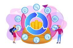 Informazioni di costruzione che modellano l'illustrazione di vettore di concetto royalty illustrazione gratis