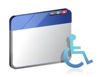 Informazioni di handicap sul web Immagine Stock Libera da Diritti
