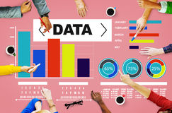 Informazioni di statistiche del modello di prestazione del grafico di analisi dei dati di dati Fotografia Stock Libera da Diritti