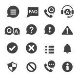Informazioni ed icona di notifica immagini stock