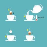 Informazioni grafiche sul tè del limone della preparazione Fotografie Stock