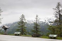 Informazioni lungo l'alta strada alpina di Grossglockner, Austria Immagine Stock Libera da Diritti