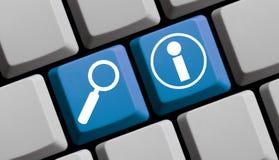 Informazioni online Fotografie Stock
