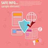 Informazioni sicure di notizie Fotografia Stock