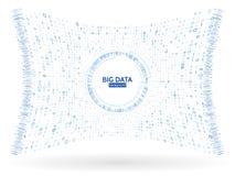 Informazioni visive del flusso di dati Struttura astratta del collegamento di codice binario Complessità futuristica di informazi royalty illustrazione gratis