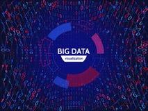Informazioni visive del flusso di dati Struttura astratta della connessione dati Complessità futuristica di informazioni illustrazione vettoriale
