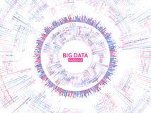 Informazioni visive del flusso di dati Struttura astratta di conection di dati Complessità futuristica di informazioni illustrazione di stock