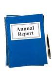Informe anual Fotos de archivo